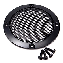 "1pcs 3"" inch Black Audio Speaker Cover Decorative Circle Metal Mesh Grille Black"