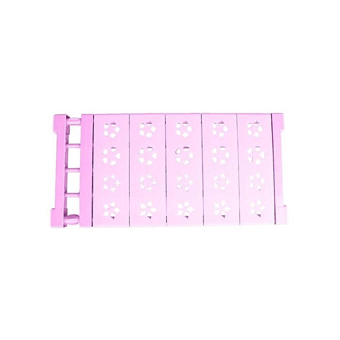 Buy Vakind Wardrobe Storage Rack Adjustable Nail-free Shelf Divider ...