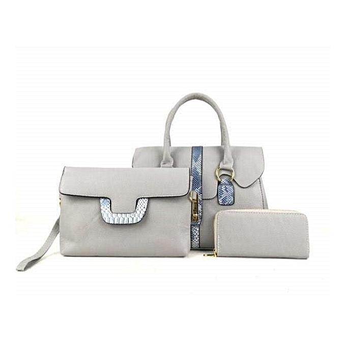 b4149f3c92c2 Generic Ladies Handbag 3 in 1 - Grey   Best Price