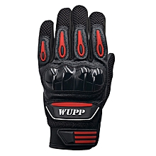 Riding Bike Racing Motorcycle Protective Armor Short Leather Gloves Mesh XXL