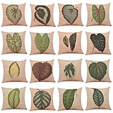 Honana Colorful Leaves Pattern Cotton Linen Throw Pillow Cushion Cover Car Home Sofa Decor
