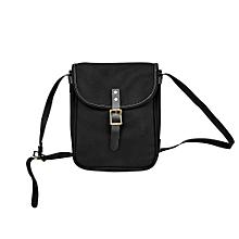Africanmall store Leisure Shopping Travel Canvas Shoulder Bag Handbag Bag Inclined Shoulder Bag-Black