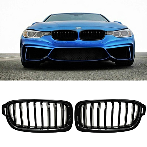 Generic Front Kidney Grille Grills Gloss Black Left Right For Bmw