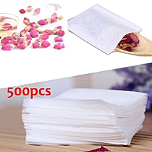 500X Non-woven Empty Teabags String Heat Seal Filter Paper Herb Loose Tea Bag