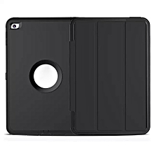 Ipad/tablet Case Hybrid Heavy Duty Shockproof Stand Flip Smart Case Cover ForiPad Air 2 BK( Black)