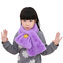 Fashion Child Thickening Warm Smiling Face Scarves Faux Fox Fur Raccoon Scarf PP