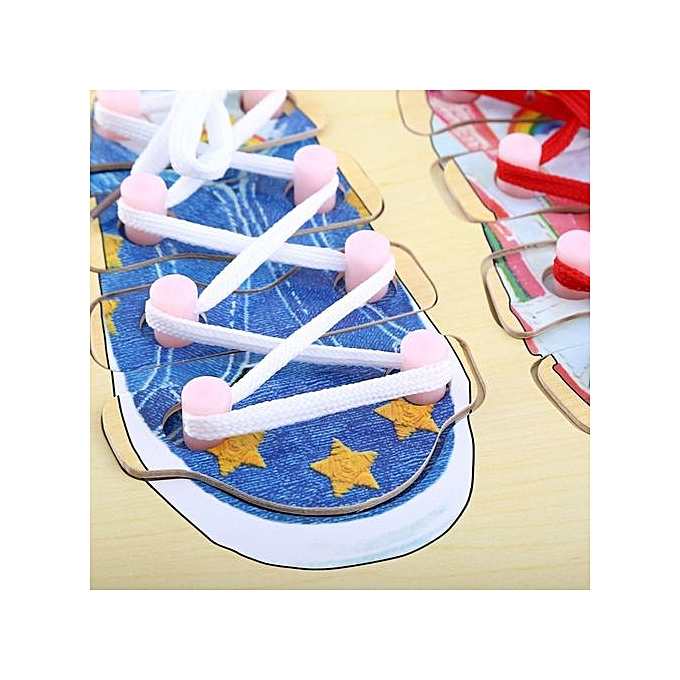 Buy Universal New Type Wooden Tie Shoe Lacing Threading Board