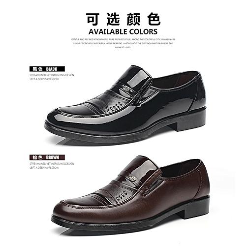 46b5dc841e Generic Fashion Men s Shoes Men s Leather Shoes Men s Bright Face Men s  Leisure Shoes Single Shoes