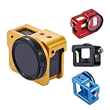 PULUZ PU182 Housing Shell Aluminum Alloy Protective Cage for GoPro HERO6 HERO5 with Insurance Frame
