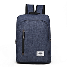 Backpack Laptop Bag Pack Travel Vintage Teenage College Double Shoulder School Pure-dark blue