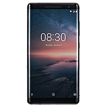 8 Sirocco 5.5-Inch P-OLED (6GB, 128GB ROM) Android 8.0 Oreo, 12MP + 12MP LTE Smartphone - Black