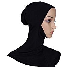Muslim Inner Hijab Cap Inner Neck Chin Covered Black