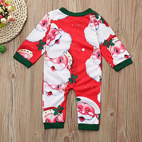 3cc1ba7b8 MUYI Newborn Kids Baby Boys Girl Christmas Clothes Santa Print ...