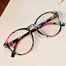 96b07451e8af iBelieve New Style Fashion Women Round Frame Anti-Radiation Goggles Plain  Glass Spectacles Colorful Optical