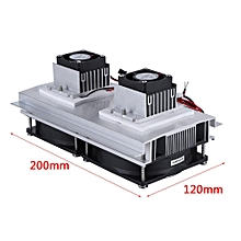 2 Core Refrigeration Thermoelectric Peltier Air Cooling Cooler + Power Supply eo