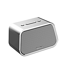 Baseus Bluetooth Speaker Mini Portable Outdoor Wireless Speaker 3D Stereo Music Surround Player (Silver) LJMALL