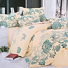 Duvet Cover - Yellow (with Green Embroidery), 300 Thread Count, Kingsize