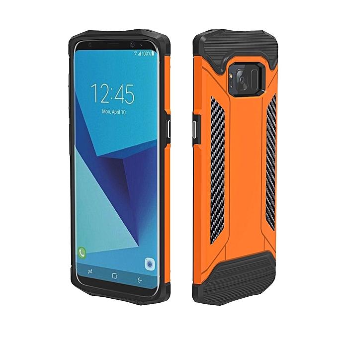 For Samsung Galaxy S8 + / G955 TPU + PC Steel Armor Combination Case  (Orange)