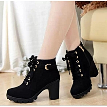 a1455079c6e Women Shoe-Ankle Boots High Quality Midium heel