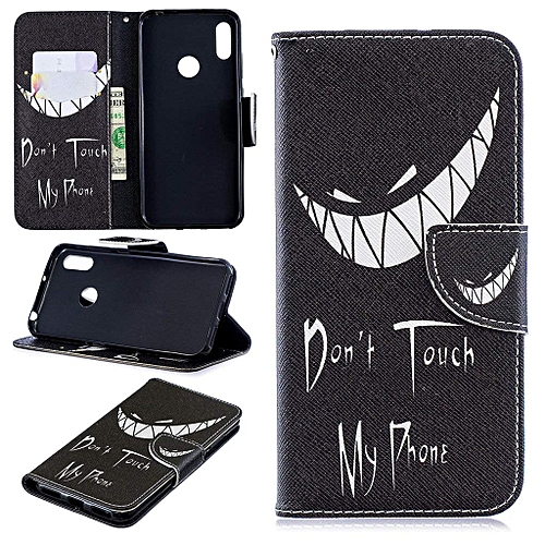 superior quality 8c5e3 f1161 Huawei Y6 2019 Case, Beautiful Pattern PU Leather Flip Magnet Wallet Stand  Card Slots Protective Case Cover for Huawei Y6 2019 / Y6 Pro 2019 (BO-10)