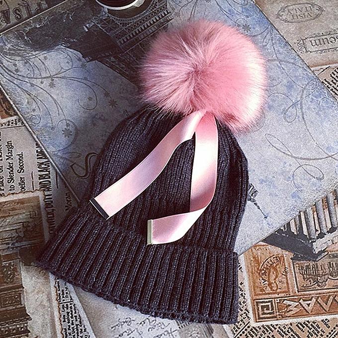 a5f88351787 Fashion singedanWomen Winter Keep Warm Crochet Ski Hat Braided Cap ...