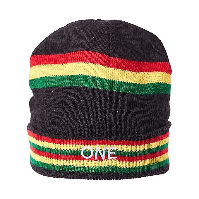 Imperial Beanie   Bobble Hat For Men Striped Red Black Yellow Green 3b9f8a3915e