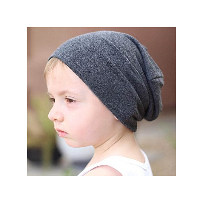 4117dcac3 Toddler Kids Baby Boy Girl Infant Cotton Soft Hip Hop Hat Cap Beanie -Dark  Gray