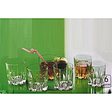 Drinking Glasses Tumbler Whiskey,Scotch,CockTail,Vodka 350 ml (Set of 6) - Clear