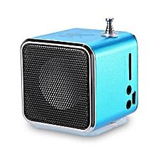 TD - V26 Mini Digital LCD FM Radio Speaker Micro SD / TF Music Stereo-Lake Blue