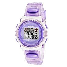 SYNOKE Rubber Digital Led Wristwatch Watch for Girls Kid Children Purple