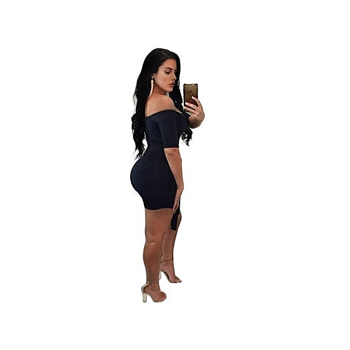 b83d9a31d43b ... Refined Women s Jumpsuit Skin-tight Off Shoulder Sexy Jumpsuit-black ...