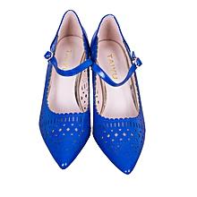 Blue High-heel Wedged Ladies Shoes