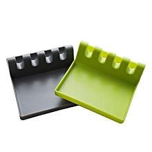 2Pcs Kitchen Utensil Tray (Gray + Green)