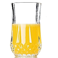 Crystal Long Drinking Glasses - 6 Glasses - Clear