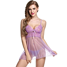 Avidlove Women Sexy Lace Strap Chemise Babydoll Lingerie Set Dress + G-String