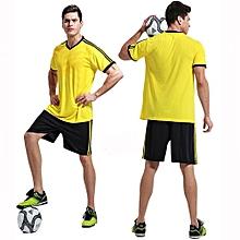 Customized  Adult Men's Football Soccer Sport Team Jersey Set-Yellow(QD-1702)