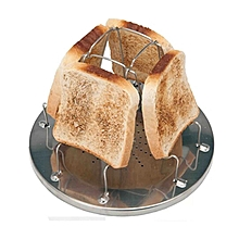 Folding Camp Stove Bread Toaster Tray Rack Cooking Camping Breakfast