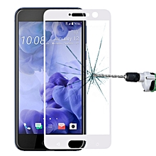 For HTC U Play 0.33mm 9H Surface Hardness Silk-screen Full Screen Tempered Gl Screen Protector (White)