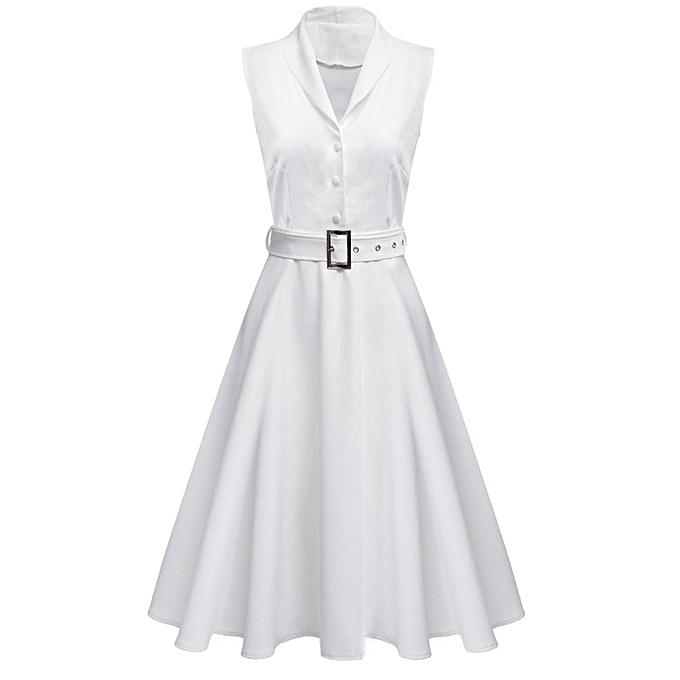 Buy Fashion Fashionable Shawl Collar Sleeveless Single-breasted Ball ...