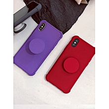 WHATIF iPhone X/8/8 Plus/7/7 Plus/6/6S/6 Plus/6S Phone Case Solid Color Shockproof Fashion Simple Phone Cover____IPHONE X____black
