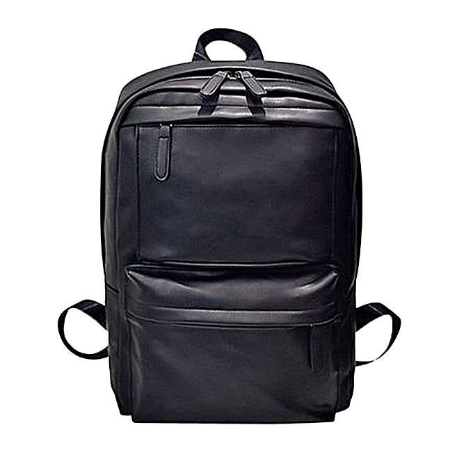 496d0f603c18 bluerdream-Men s Women s Leather Backpack Laptop Satchel Travel School  Rucksack Bag Black-Black