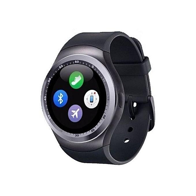 Y1 - Smart Watch with M-pesa menu,Bluetooth 3 0 280mAh - Black