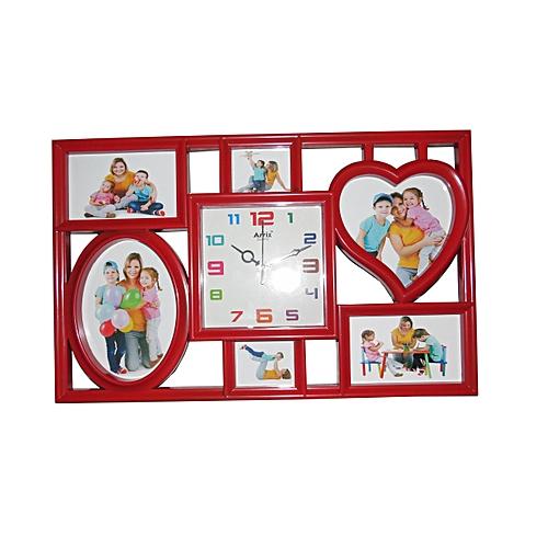 Buy Ariel Quartz Picture Frame Wall Clock - Red @ Best Price Online ...