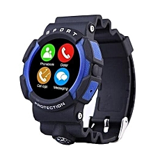 A10 Sport Bluetooth Waterproof Smart Watch Wristwatch For IOSfor Iphone6/6S Android Smart Phone MT2502 Heart Rate Waterproof IP67(Blue)