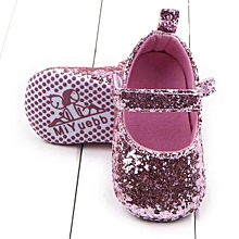 a01a9e8f725fe Toddler Girl Soft Sole Crib Shoes Sequins Sneaker Baby Shoes PK -Pink