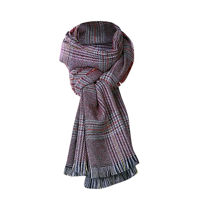 25b572e2a0a90 Fashion jiuhap store Women Shawl Cashmere Autumn Plaid Wool Scarves ...