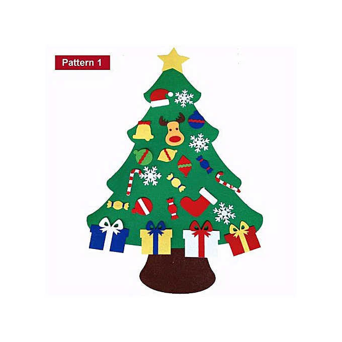 Christmas Tree Set Door Wall Hanging Ornament Children Party Decoration Rudolph