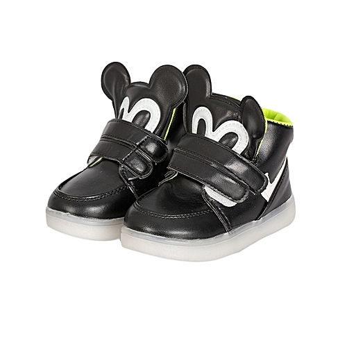 1ba4eb3c95d Duka Letu Mickey Baby Fashion Sneakers Led Child Boy Girl Toddler Casual  Light Shoes - Black