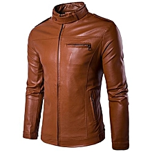 100% Leather Spring Men's Genuine Leather Plus Size Jackets Real Sheepskin Black Male Genuine Leather Jacket For Men -yellow