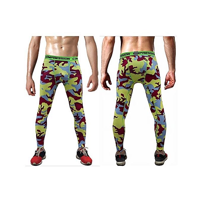 e33d52e68ac Autumn Camo Men Compression Pants Sport Wear Jogging Pants Gym Fitness  Leggings Training Pants Running Tights